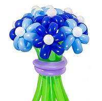 """Букет """"Василек"""" из воздушных шариков, цветы из воздушных шариков. В букете 11 цветков."""