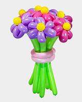 """Букет из воздушных шариков """"Ассорти"""" , цветы из воздушных шариков. В букете 7 цветков."""
