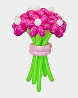 Букет из воздушных шариков, цветы из воздушных шариков. В букете 9 цветков.
