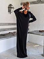 Длинное платье с рукавами летучая мышь