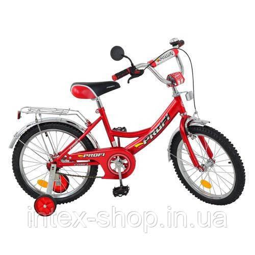 Детский двухколесный велосипед 16 дюймов (арт. P 1646) черно-красный
