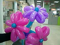 Букет из воздушных шариков, цветы из воздушных шариков. В букете 3 цветочка.