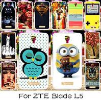 Силиконовый чехол для ZTE Blade L5 Plus / L5 с картинкой