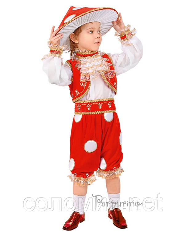Детский костюм для мальчика Мухомор