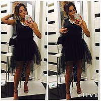 Женское черное платье + пышная юбка пачка