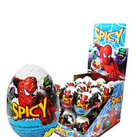 Шоколадное яйцо Человек Паук  24 шт. с сюрпризом