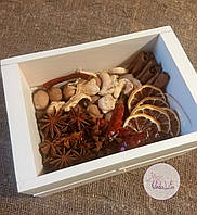 Набор пряностей ручной сортировки подарочный в деревянном ящичке