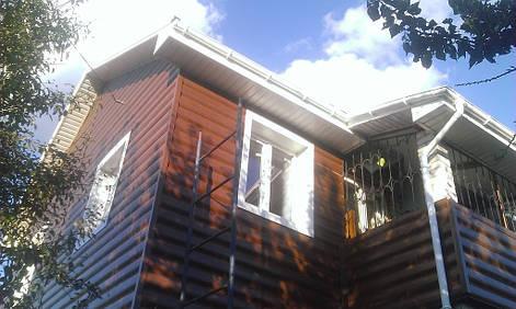 Замена кровли и окон, утепление и облицовкка фасадов на дачном доме.