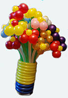 Огромный букет из воздушных шариков, цветы из воздушных шариков. В букете 20  цветочков