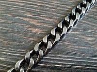Цепь декоративная метражная металл №28 ширина 9мм цвет темный никель