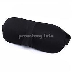 Маска на очі для сну з 3D формою, колір чорний