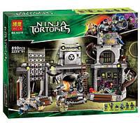 Конструктор Bela серия Черепашки Ниндзя 10278 Нападение на логово черепашек (аналог Lego Ninja Turtles 79117)