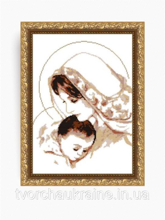 Авторская канва для вышивки бисером «Дева Мария с младенцем»