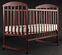 Детская кроватка Наталка Ольха темная, лакированная