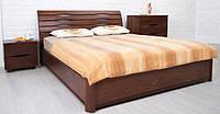 Кровать двухспальная с подъемным механизмом Марита-N из массива бука Олимп 180х200