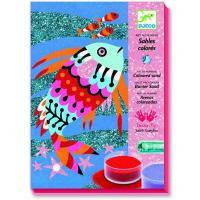 Набор для творчества Djeco Рисование песком и блестками Радужные рыбки (DJ08661)