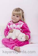 ТЕПЛЫЕ детские пижамы 1-3-5лет, 1121KAYмахровые -вельсофт, в наличии 92,104,116  Рост