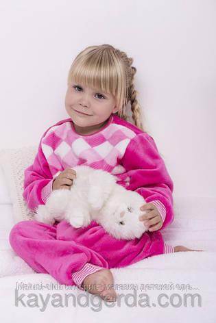 ТЕПЛЫЕ детские пижамы 1-3-5лет, 1121KAYмахровые -вельсофт, в наличии 92,104,116  Рост, фото 2