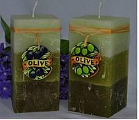 Свеча Olive квадрат 286