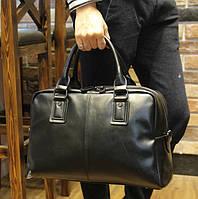 Мужская дорожно-спортивная сумка. Черная