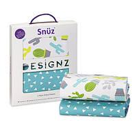 Простыни в детскую кроватку Snuz Pod (2 шт), The Little Green Sheep