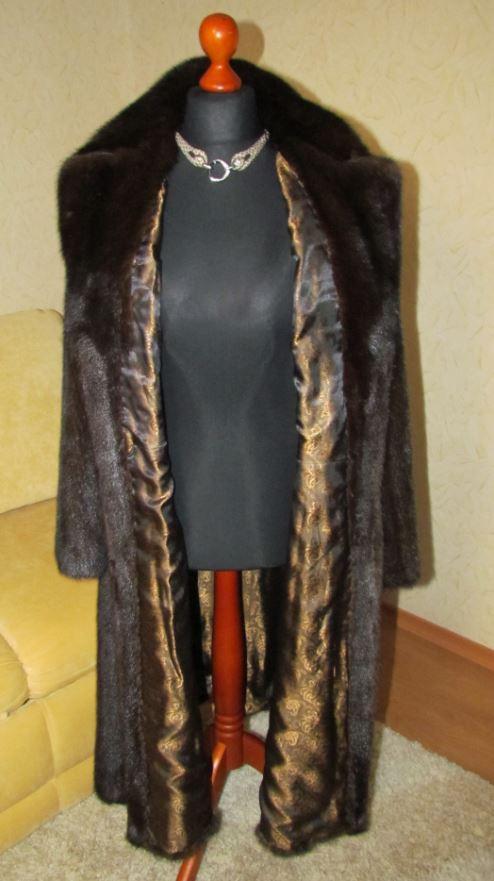 Шуба норковая коричневая (Подкладка)