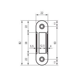 AGB Art. B010002991 Ответная планка к механизму совм. белая без отб