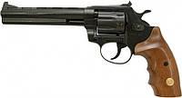 """Револьвер под патрон Флобера Alfa 461 6"""" (черный/ дерево)"""