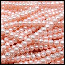 Жемчуг керамический 4 мм розовый (210-230 шт)