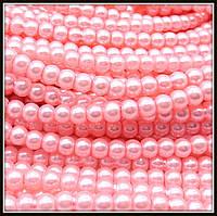 Жемчуг керамический 4 мм ярко-розовый (210-230 шт)