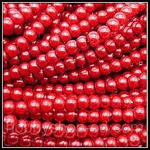 Жемчуг керамический 4 мм красный (210-230 шт)