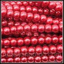 Жемчуг керамический 4 мм бордовый (210-230 шт)