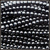 Жемчуг керамический 4 мм черный (210-230 шт)