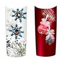 Дизайн ногтей с наклейками на зимнюю тематику