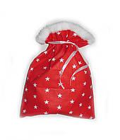 Новогодний Рождественный мешочек р.25*33см для подарков красный с рисунком