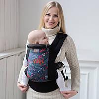Рюкзак переноска, Эрго слинг Love & Carry DLIGHT Цветы. Хлопок 100%