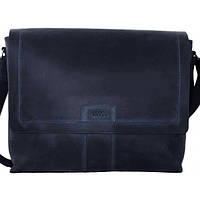 Мужская сумка из синей матовой кожи VATTO MК34Kr600 (Украина)