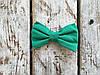 Галстук-бабочка, зеленая