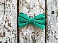 Галстук-бабочка, зеленая, фото 1