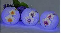 Свеча Орхидея Диод шар 275
