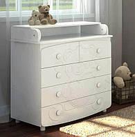 Комод пеленальный Prestige 6 мишка белый Baby Dream