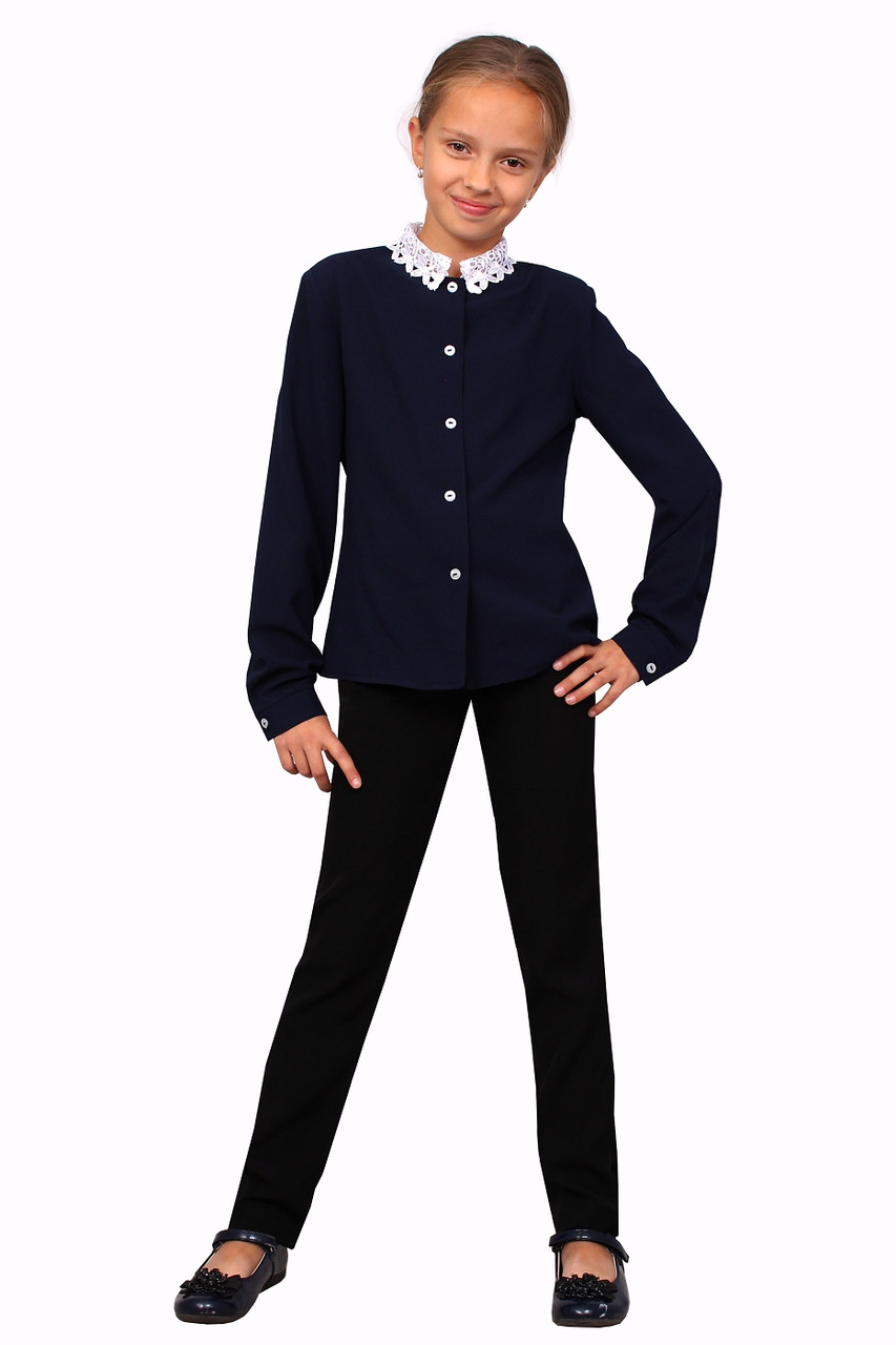 Блузка детская для девочек М-1052 рост 116-158 - ТОВ
