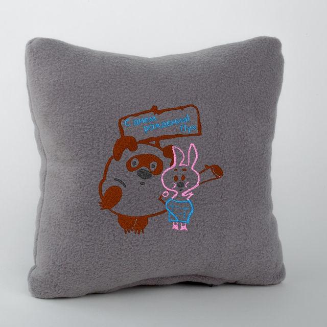 Декоративная подушка с надписью S Dnem rozhdeniya в расцветках