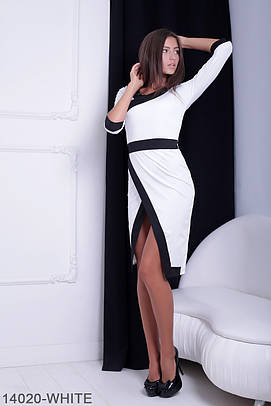 Стильне біле жіноче плаття Brosa