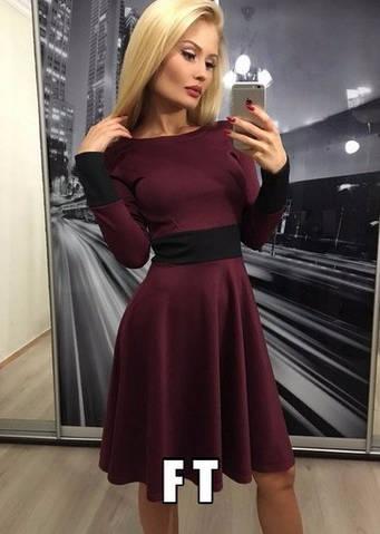 Женское платье, французский трикотаж, р-р 42-44; 44-46 (фиолетовый)