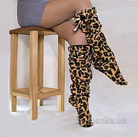 Тапочки-сапожки высокие Леопардовые 36-37