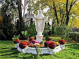 Ритуальная скульптура в Украине. Большая статуя Покрова №6 высота 220 см из бетона, фото 4