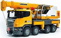 Автокран Bruder Scania Liebherr Большой со светом и звуком (03570), фото 1