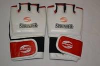 Перчатки рукопашный бой Sprinter кожаные р. М  белый