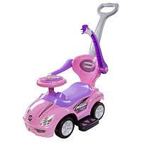 Машинка-каталка с ручкой Sun Baby Mega Car Pink